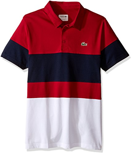 Lacoste Men S Golf Performance Short Sleeve Colorblock