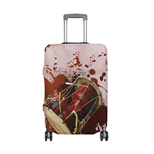 ALAZA Drum Kit Travel Luggage Cover DIY Prints Protector Sui