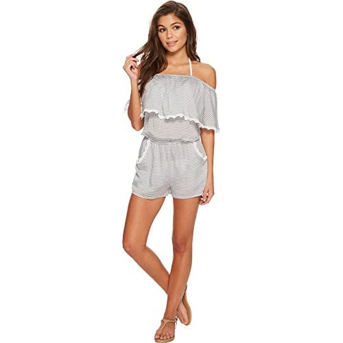 Becca by Rebecca Virtue Womens Nantucket Romper Cover-Up free shipping