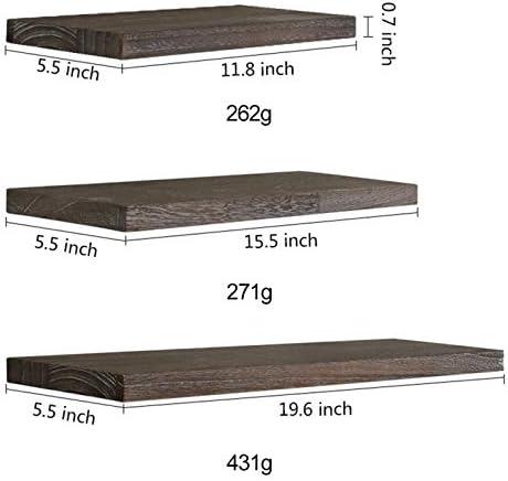 Montado en la pared rústicos estantes flotantes de montaje en pared estante de exhibición de la decoración estantes flotantes de madera rústico de la pared del hogar del estante de almacenamiento Bald: