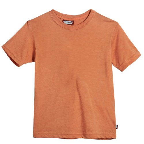 City Threads Girls' All Cotton Short Sleeve Solid Tee Tshirt for School or Play
