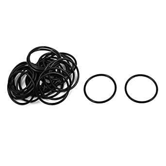 uxcell 30 Pcs 25mm x 1.5mm Rubber O-rings NBR Heat Resistant Sealing Ring Grommets