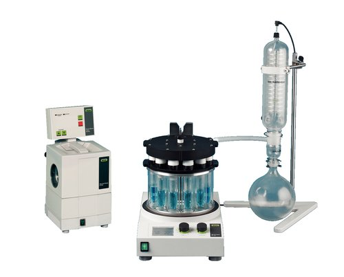 Buchi Multivapor MP12001R00 P-12 Series Evaproator without Safety Shield, Configuration with Evaporation Unit Tube Adapters, Rotary Evaporator Connection Interface, No Flask, No Pump, 0.5-30ml Volume, 100/120V