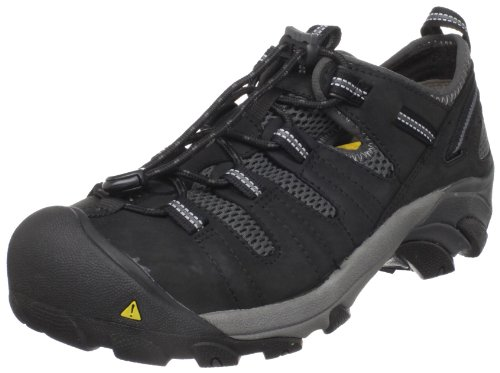 KEEN Utility Men's Atlanta Cool Steel Toe Work Shoe,Black,9.5 D  US