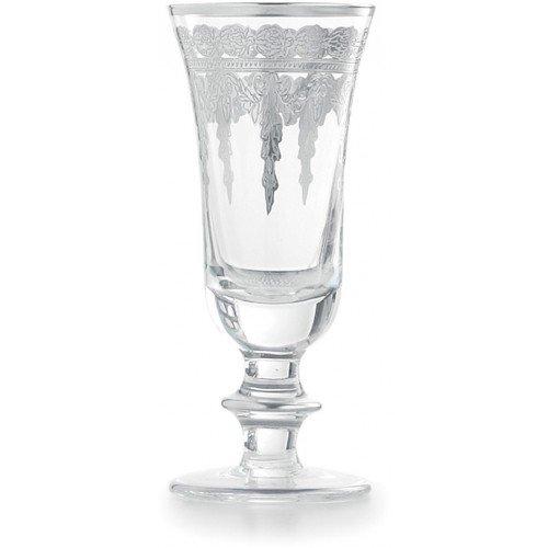 Arte Italica Vetro Silver Flute Glass - Vetro Glass