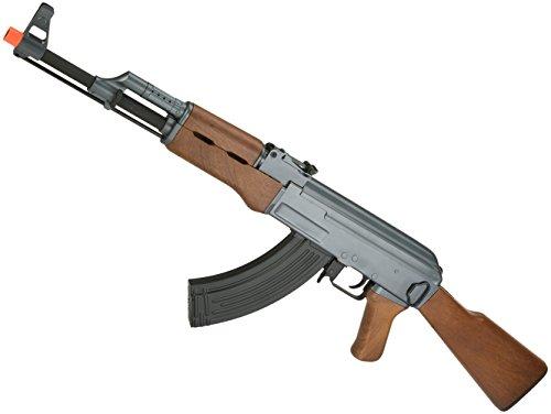 Evike CYMA CM028 Airsoft AK47 AEG Rifle - Simulated Wood Furniture - (23921) by Evike