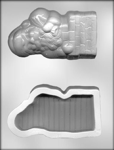 CK Products 6-Inch Santa in Chimney Box Chocolate Mold