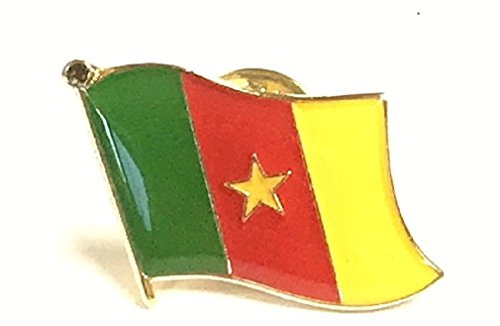 Pack of 50 Cameroon Flag Lapel Pins, Cameroonian Pin Badge