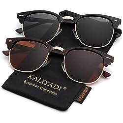 Polarized Sunglasses for Men and Women | Semi-Rimless Frame | Driving Sun glasses | 100% UV Blocking