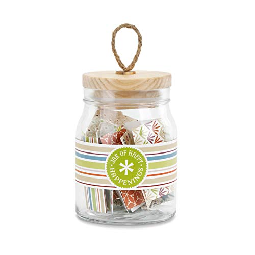 (Redrock Traditions Jar of Happy Happenings 6 inch Glass Container with Wood)