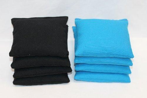 Free Donkey Sports Cornhole Bags (Pack of 8), Black/Turquoise, Regular by Free Donkey Sports
