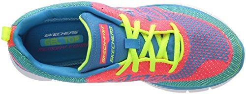 Zapatillas Equalizer Mlt de de Multicolore Mujer Multicolor All Material Above sintético Skechers Deportes de Interior AtnUdt4