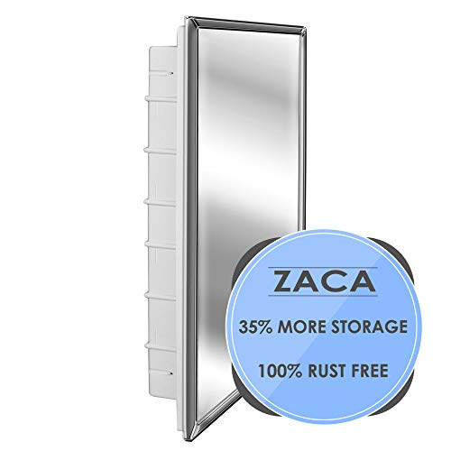 (Zaca 11-1-26-32 Regulus Frame Recessed Mount Medicine Cabinet-Reversible for Left/Right Swing, 26