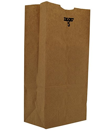 Duro ID# 18405 5# SOS Bag 35# 100% Recycled Natural Kraft, Pack of 500