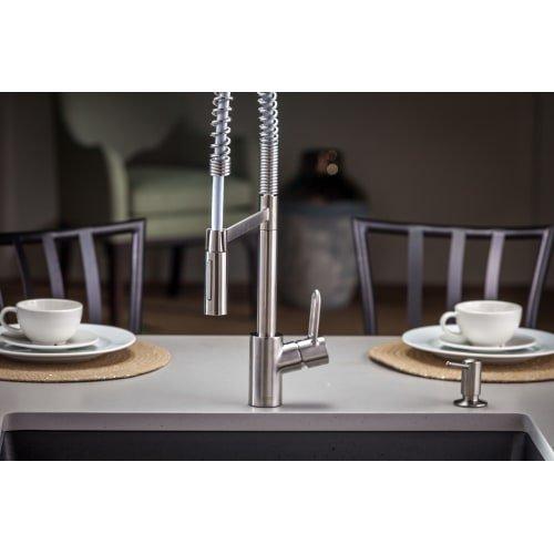 Hansgrohe 04700 Talis Loop Single Handle Semi-Pro Kitchen Faucet with Toggle Spr, Steel Optik
