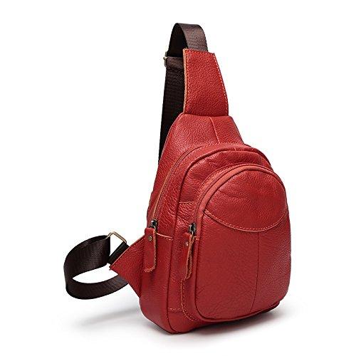 mefly bolsa de viaje bolsa de hombres y mujeres de un arnés de hombro sobre el hombro los hombres y las mujeres, marrón gules