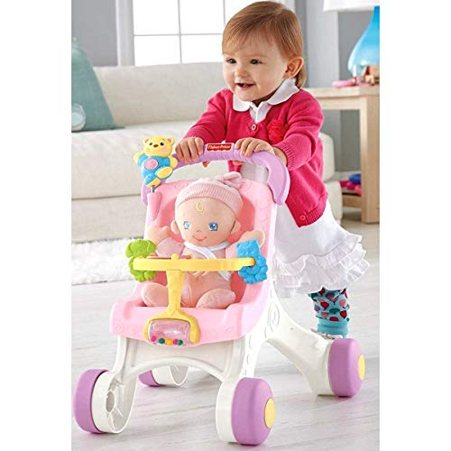 41UganhHdJL - Fisher-Price Brilliant Basics Stroll-Along Walker