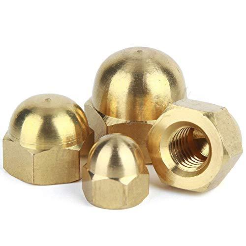 20Pcs M3 M4 M5 M6 Brass Cap Hex Nuts Decorative e Head Cover Semicircle Acorn Nut M6