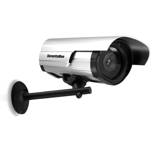 SecurityMan SM-3802 Dummy Outdoor/Indoor Camera with LED (Silver)