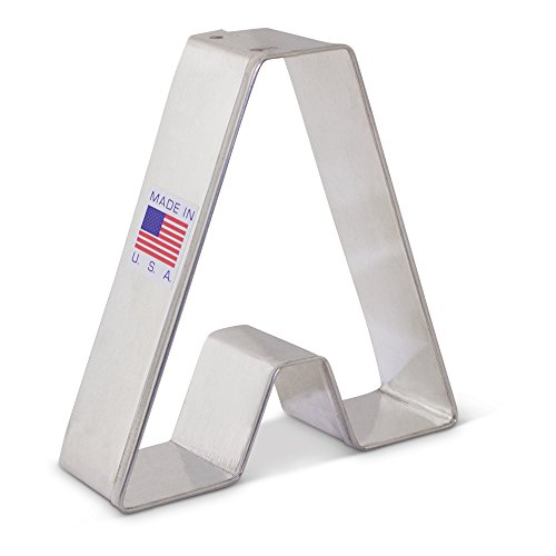 Alphabet Letter A Cookie Cutter - 3.25 Inch - Ann Clark - US Tin Plated Steel