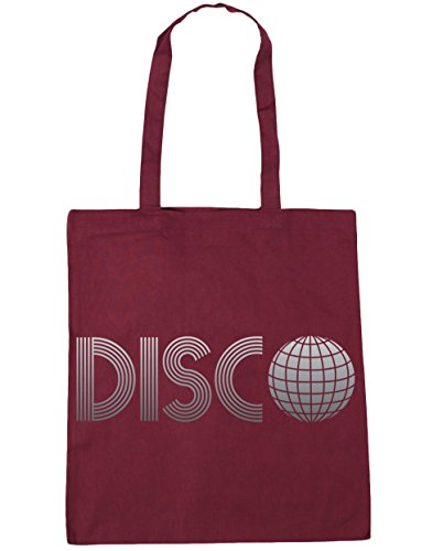 HippoWarehouse Disco bolsa de la compra bolsa de playa 42cm x38cm, 10litros granate