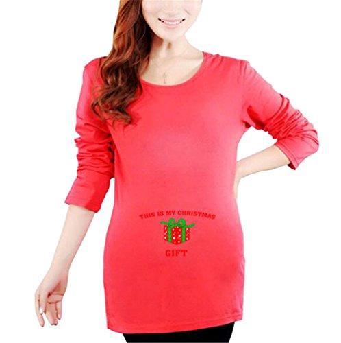 Premaman Top Maniche Maternit shirt Di Gravidanza Lunghe Donna T Per Con Maglia Sciolto Ailient Divertente Maglietta SdxqS0