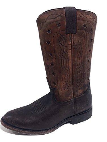Frye Wyatt Americana Boots Dark Brown Womens 8 (Frye Wyatt Boot)