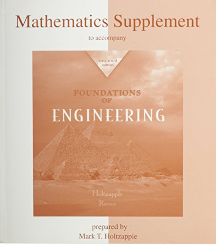 Mathematics Supplement to accompany Foundations of Engineering