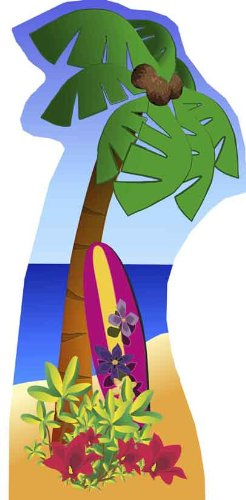 Palm Tree - Beach Party Large Cardboard Cutout / Standee / Standup by Starstills UK - Party Cardboard Cutouts