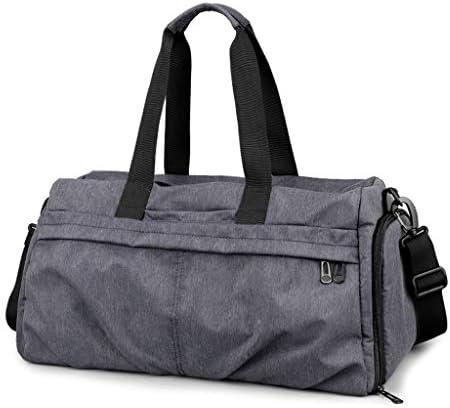 ポータブル大容量ワンショルダーゴルフの服バッグ多機能男性色のウェットとドライの分離トレーニングバッグ高品質オックスフォード布 HMMSP (Color : Gray)
