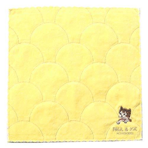 (폴&죠) PAUL&JOE 타올 고양이 자수 핑크 화이트 옐로우
