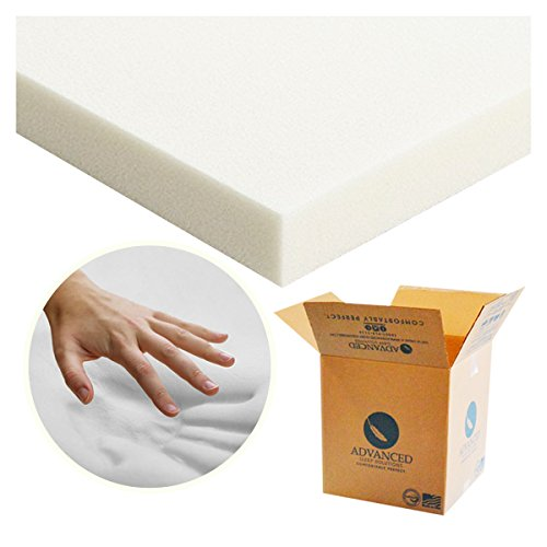Advanced Sleep Solutions Memory Foam Mattress Topper 2'' Inch UltraComfort Twin Extra Long MediumSoft Support Pad CertiPUR-US Approved USA Made by Advanced Sleep Solutions