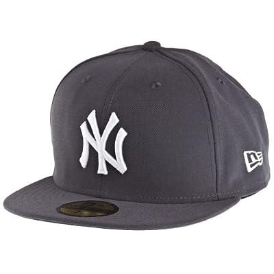 New Era Graphite-White New York Yankees Fitted Cap from New Era