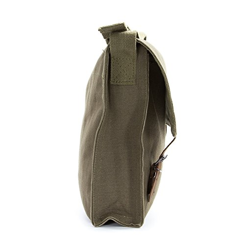 LGBT Love (Rainbow Heart) Army Heavyweight Canvas Medic Shoulder Bag in Olive & White by Grab A Smile (Image #6)
