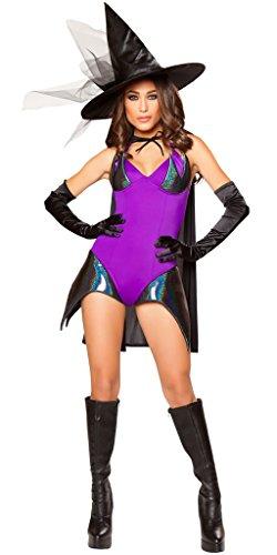 Girl's Hocus Pocus Halloween Costume - Purple/Black - Medium (Hocus Pocus Costume Shop)