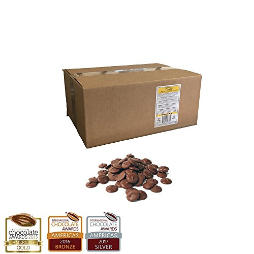 11 lb. Box of Milk Chocolate Discos (Caoba Dark Milk 41%)