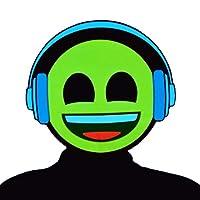 GlowCity Light-Up Emoji Mask - Brighter Than LED, Flash Modes (Headphones) Yellow