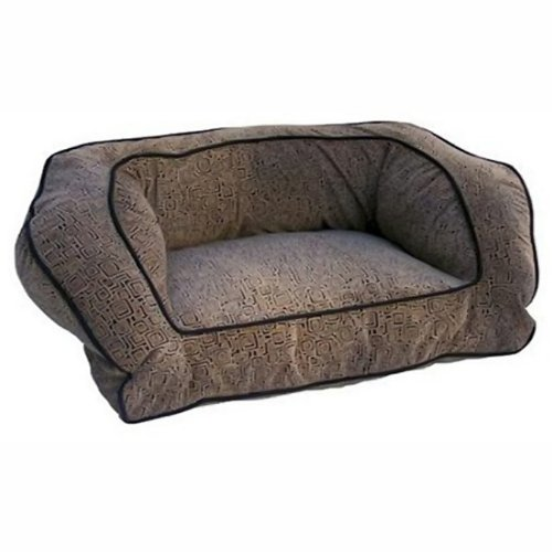 Large Snoozer 75258 Large Contemporary Pet Sofa, Tgold Antique gold Navy