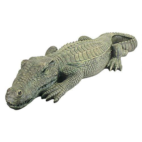 3 Ft Exotic Tropical Crocodile Alligator Home Garden Statue Sculpture (Xoticbrands)