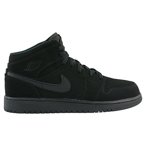 Jordan Nike Kids Air 1 Mid BG Black/White Black Basketball Shoe 6.5 Kids US (Shoes Jordans Kids)