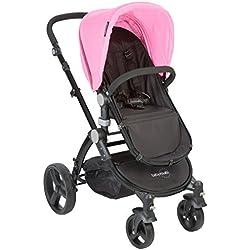 Babyroues Letour Classic Stroller, Baby Pink/Black Frame