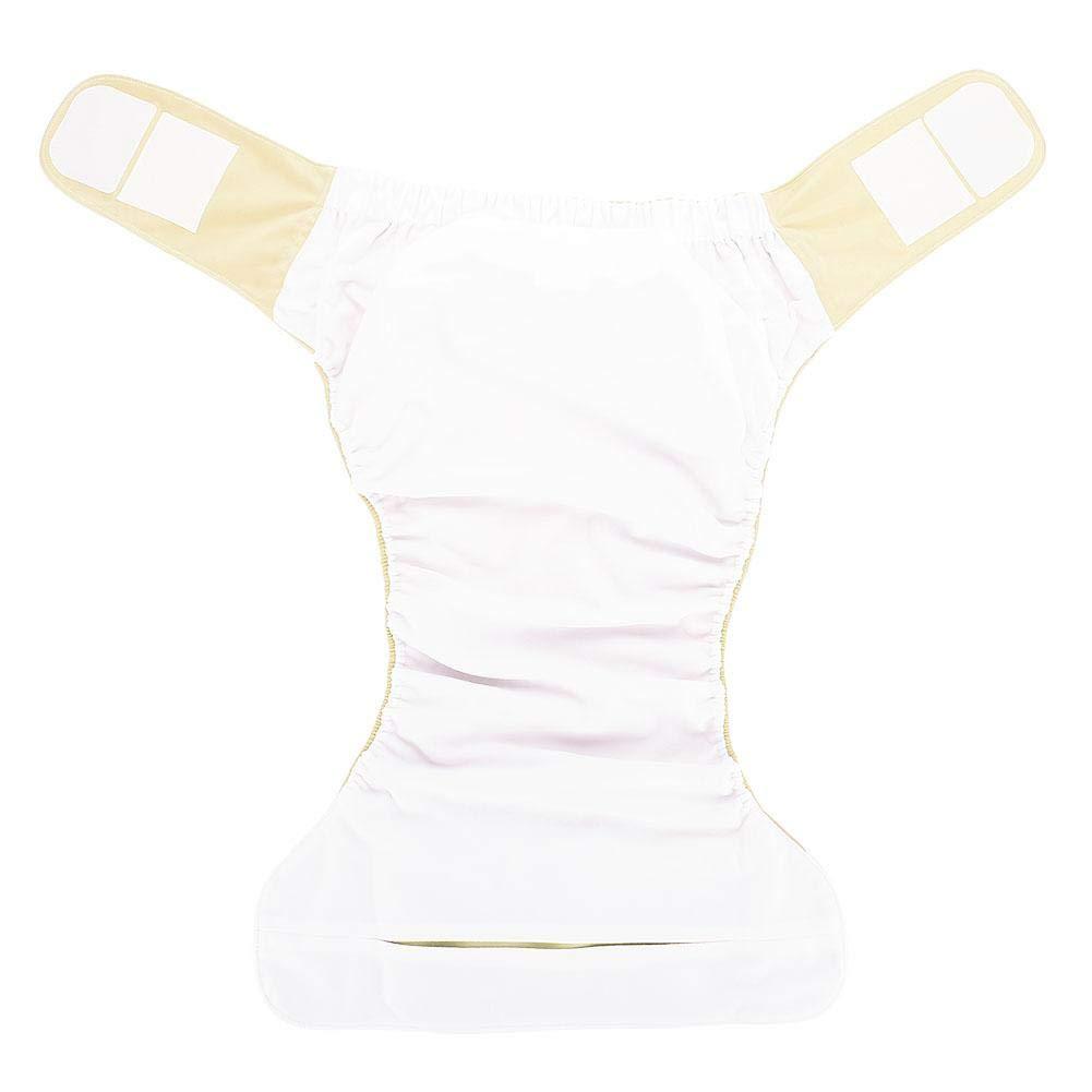 Amarillo 4 pa/ñales adultos de tela pa/ñal reutilizable lavable ajustable pa/ñal grande para el Cuidado de la Incontinencia