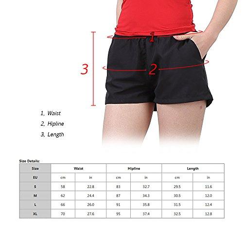 Lixada Mujer Pantalones Cortos Deportivos Transpirable y Sudor Absorbente Ocasionales para Deportes Corriendo Gimnasio Yoga