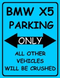 Amazoncom S SMALL BMW X PARKING ONLY METAL ADVERTISING WALL - Bmw parking only signs