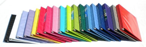 Samsill Assorted Colors 3-Ring View-Binders, 1-Inch Capacity, 8.5'' x 11'', with Insertion Sleeves and Inside Pockets, BOX OF 18 by Samsill (Image #3)'