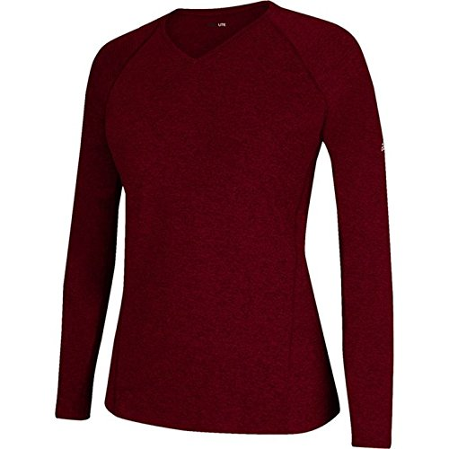 Maroon Sleeve Adidas Shirt Women's Climalite Long rRWYvXPY