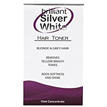 Brilliant Silver White Hair Toner Blonde & Grey Hair It Works Like Magic 15 Ml Bottle