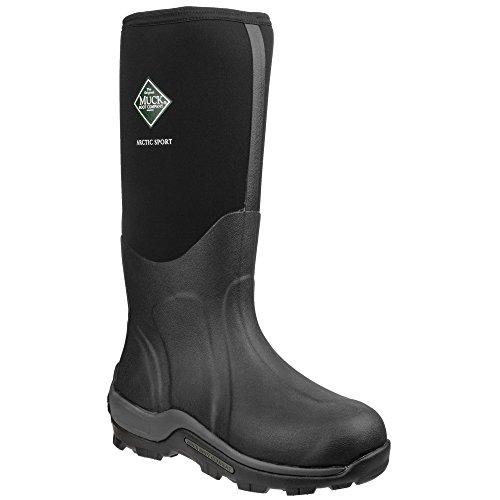 Muck Boots Arctic Sport - Stivali Wellington - Unisex (48 EU) (Nero)