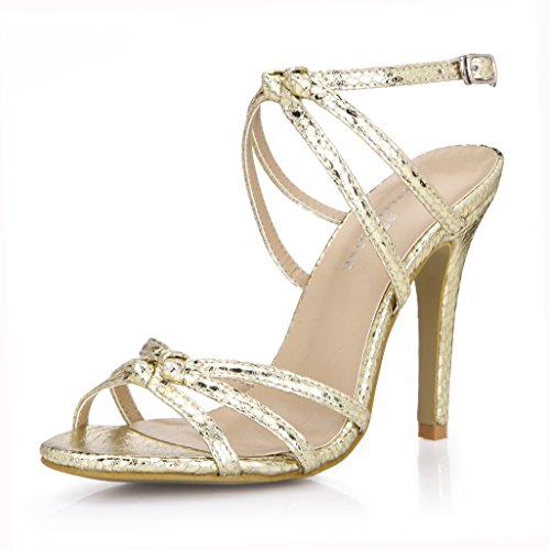 New Female sandals large high-heel shoes Black silver light Kim Serpent Skin annual fine with women shoes Silver nrT40