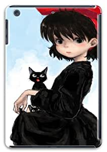 wskshop iPad Mini Retina Case, Customized Cool Anime Girl with Black Cat Plastic Cover Case for iPad Mini Retina by icecream design